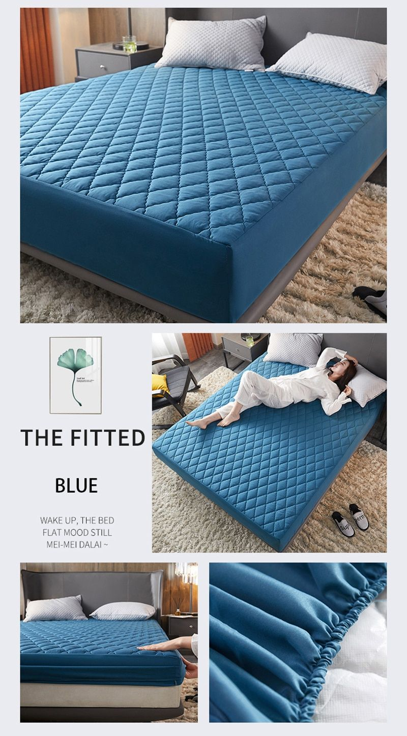 Waterproof Mattress Cover Bed Cover Multicolor Thickened Anti Mite Mat Creationsg Mattress Covers Waterproof Mattress Mattress