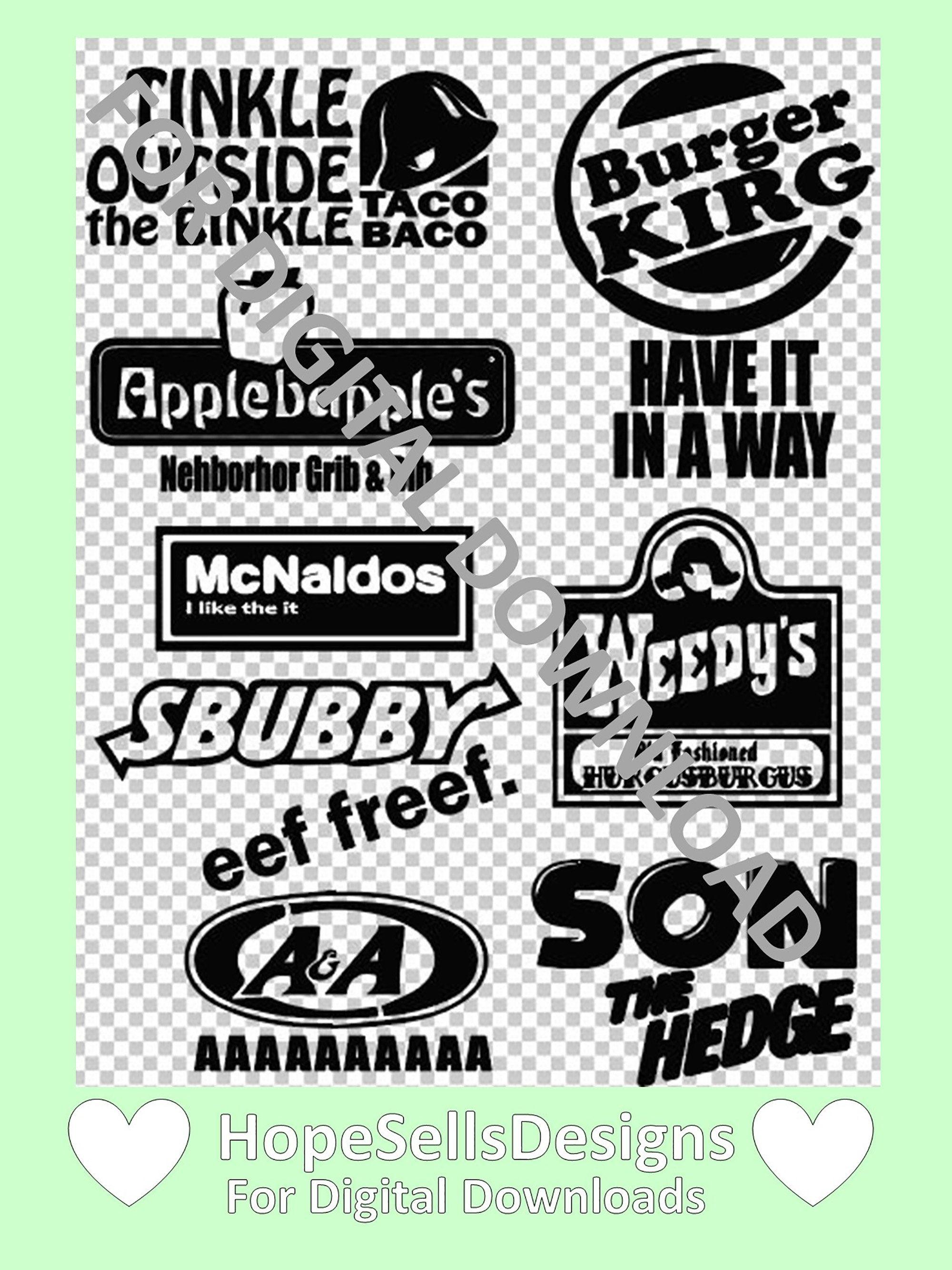 Fake Fast Food Sbubby Reddit Funny Svg Digital File Download For Cricut Machines Funny Svg Cricut Design Reddit Funny