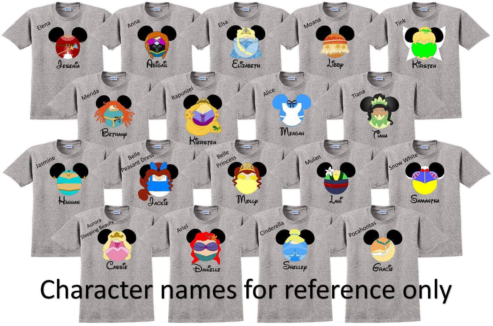 0cf1a438de0a9 Disney Shirt DISNEY PRINCESSES Disney Vacation Disney Group Shirts ...