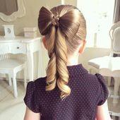 Ideen für schöne Frisuren zur Schule für Mädchen   – Frisuren –   #Frisuren …