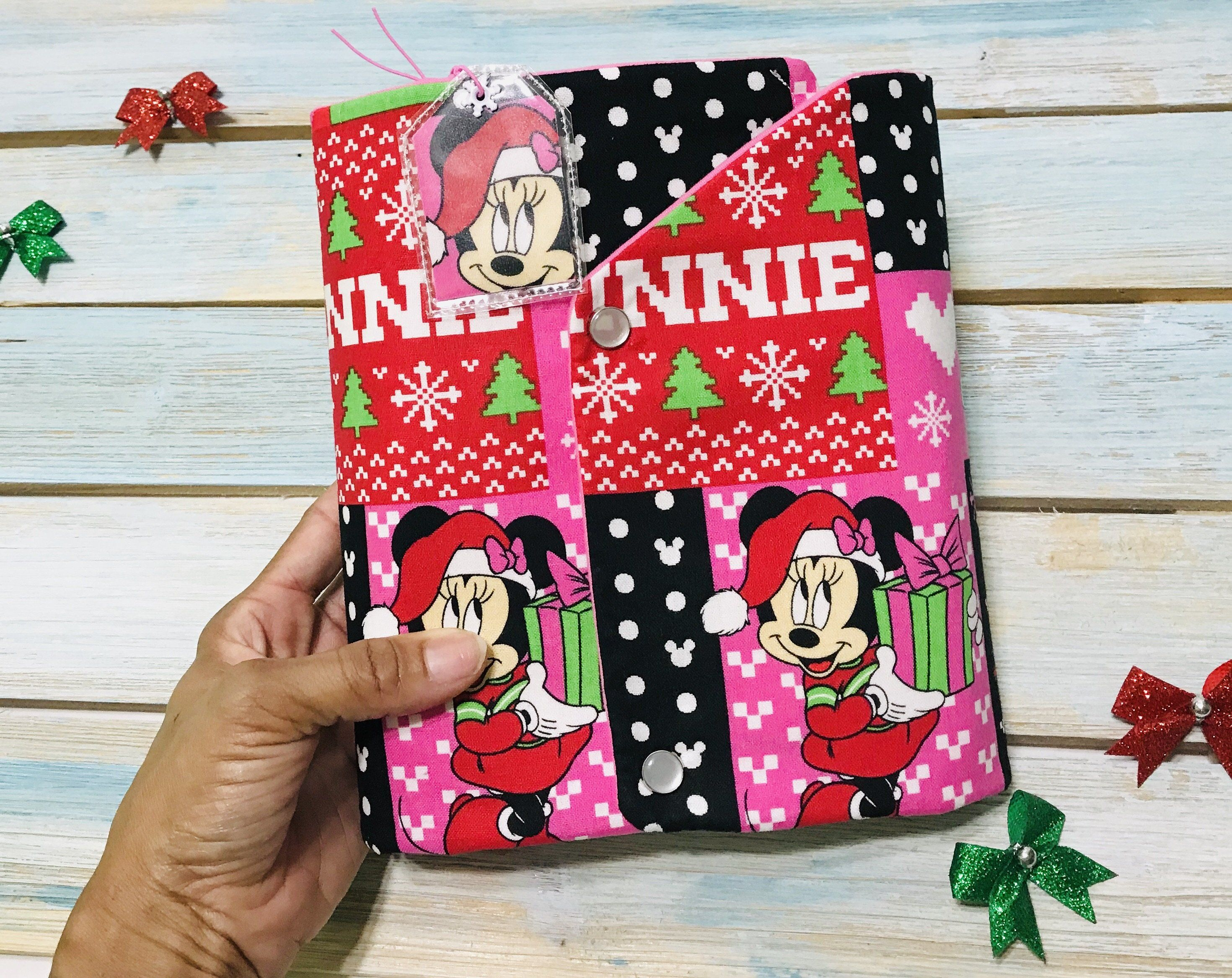 • Chunky• Christmas Minnie Mouse Ugly Sweater Mini Planner Carrier Cover