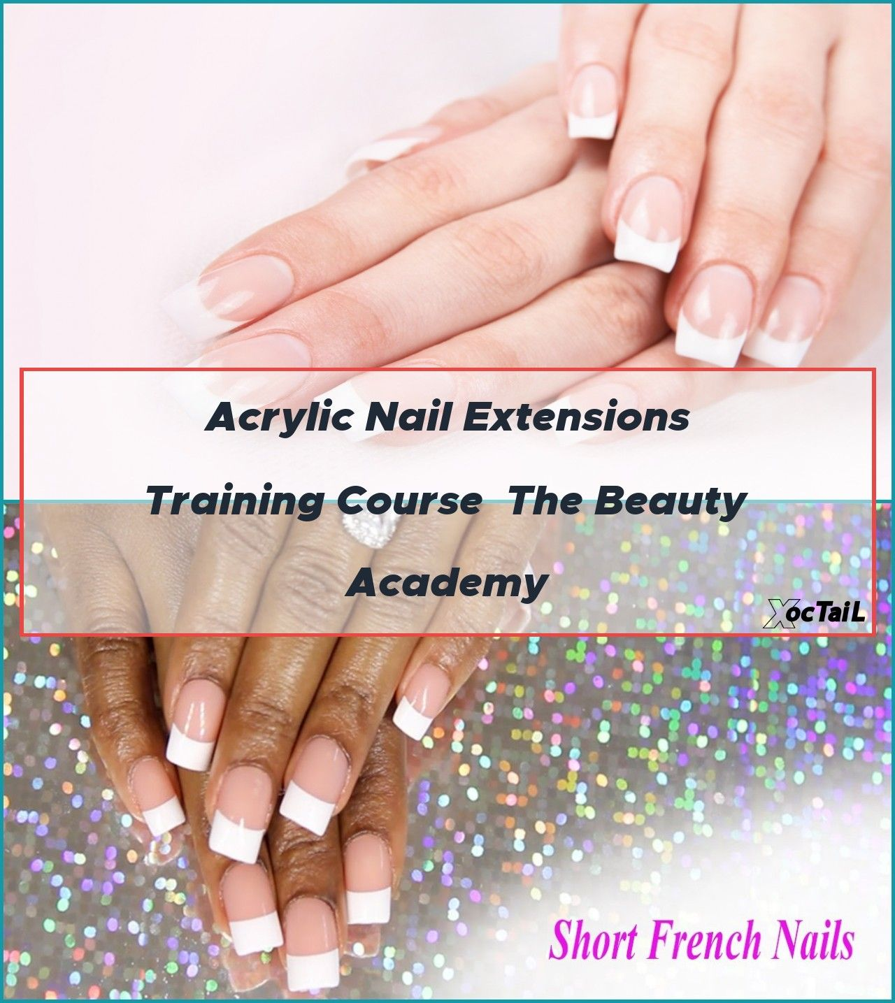 Kiss Short French Press On Nails Applied With Acrylic In 2020 Acrylic Nail Courses Nails French Nails