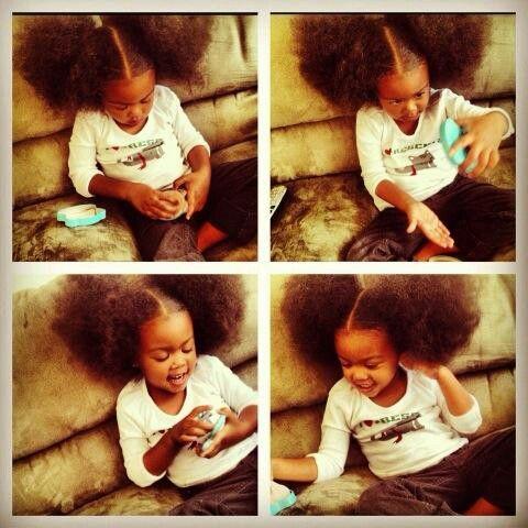 Afro puffs beautiful