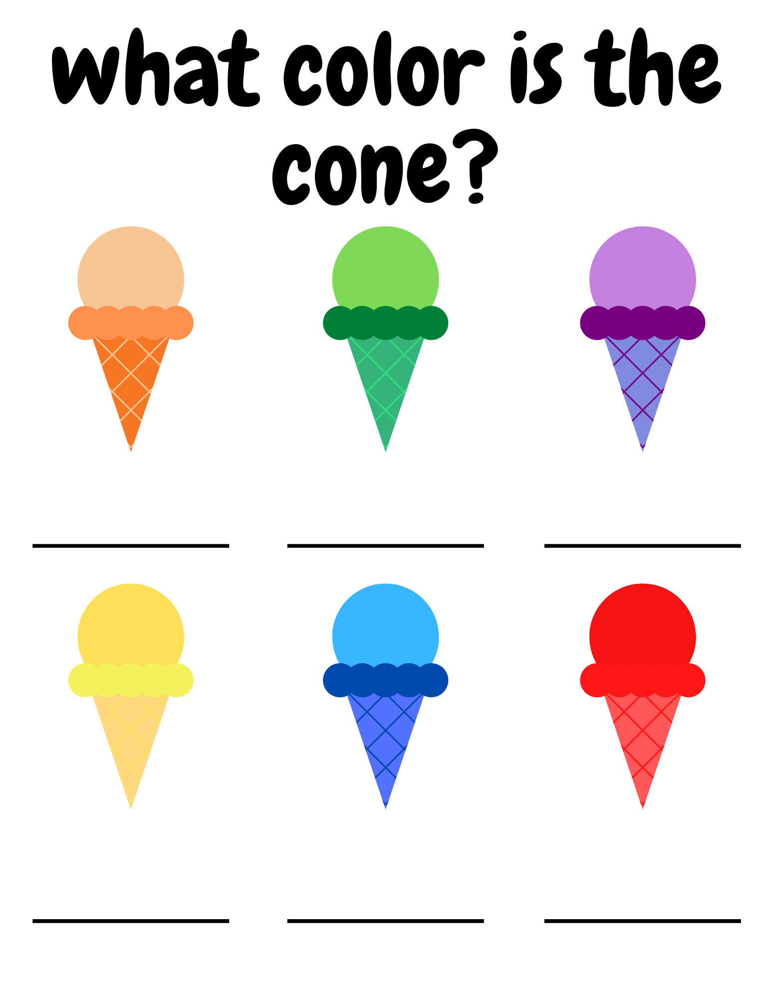 Free Toddler Worksheets That Are Ice Cream Themed