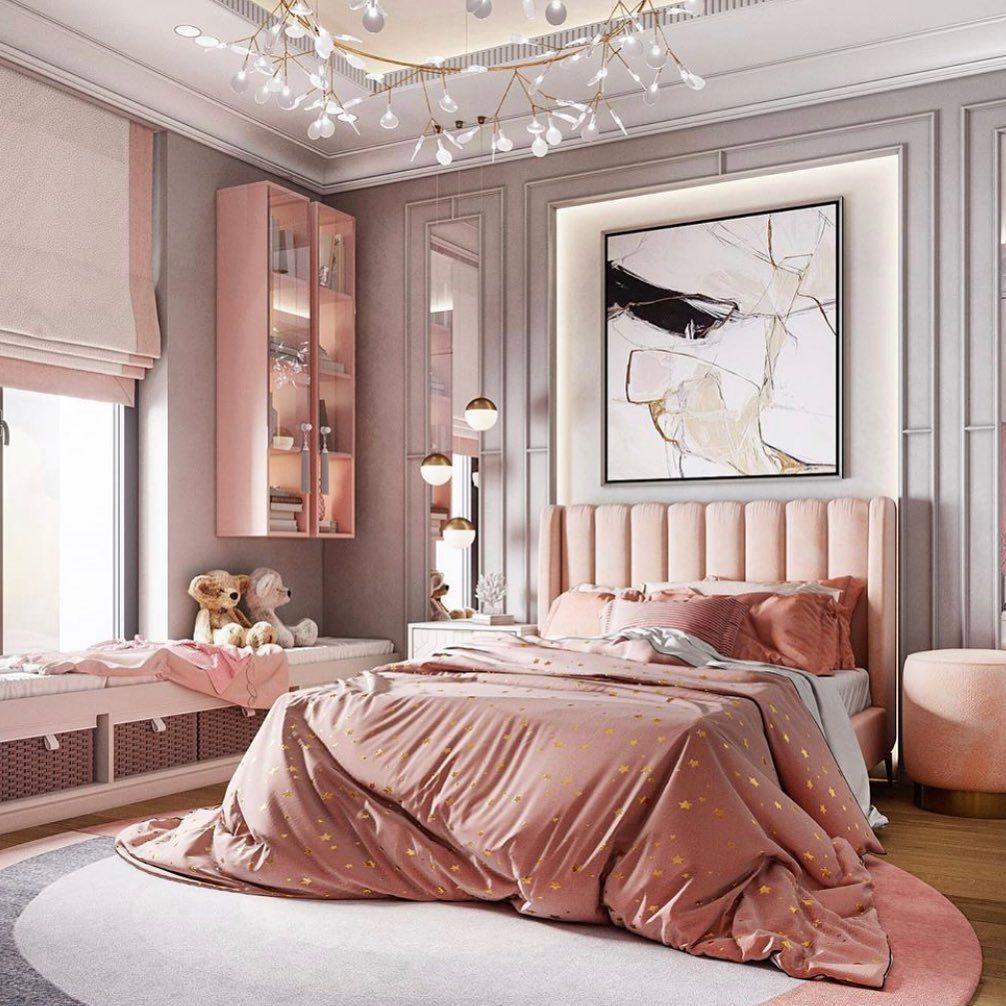 81 Likes 0 Comments T H I Interiors Thehauteinteriors On Instagram Happy Halloween Luxury Room Bedroom Room Design Bedroom Pink Bedroom Decor Luxury pink aesthetic room