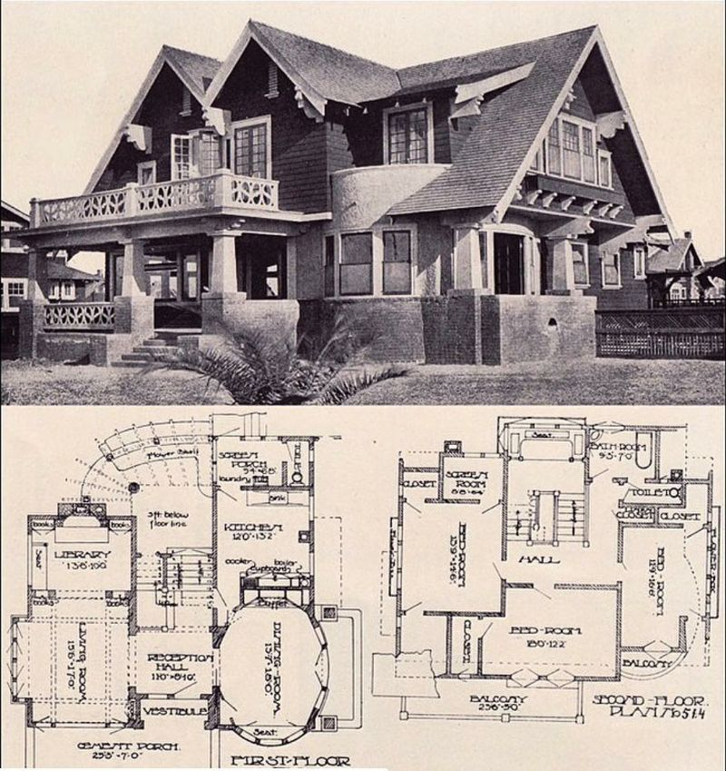 Pin By Lucas Gabriel Lima On Architecture And Historic Houses Vintage House Plans Craftsman House Plans Craftsman Style Homes