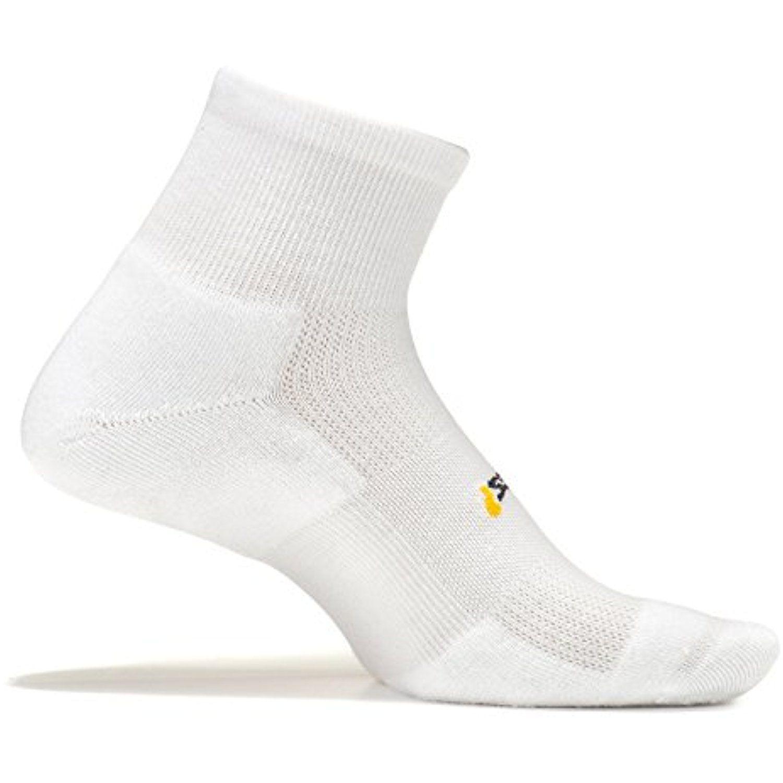 Crew Feetures Athletic Running Socks for Men and Women Size Medium White High Performance Cushion