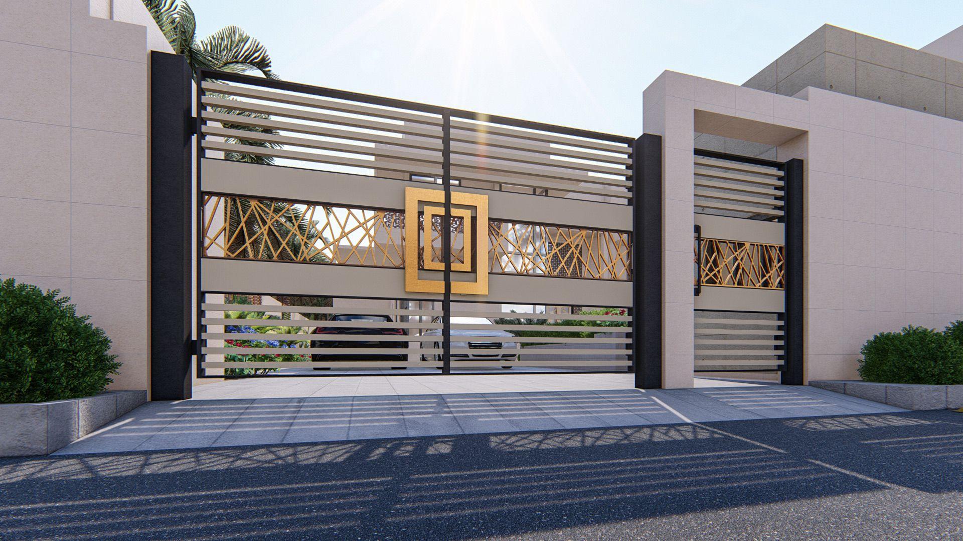 MODERN GATE DESIGN on Behance in 2020   House gate design ...