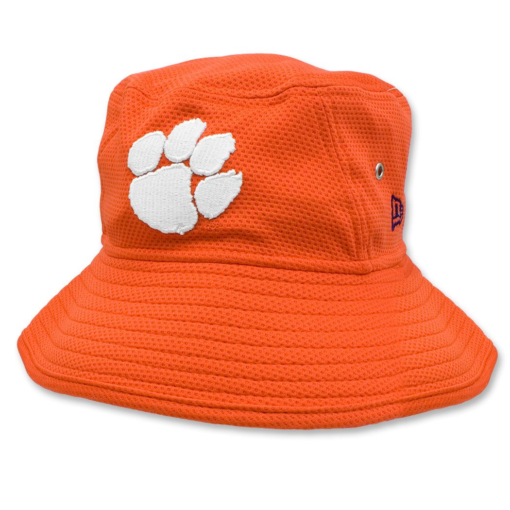 62b7329be2e94 Clemson  Tigers New Era Team Bucket Hat - Orange