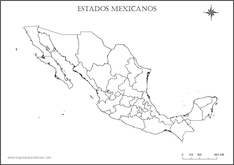 Mapamexicoestadospng Rufino Tamayo Pinterest - Mapa de mexico