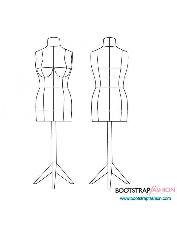 Clothing Design Pdf   Diy Dress Form Sewing Pattern Pdf Designer Sewing Patterns