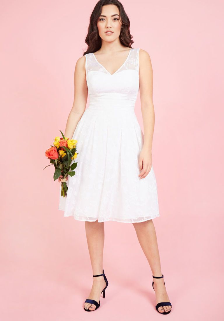 Fit and flare dress wedding  Bestowed With Beauty Fit and Flare Dress in Ivory  Wedding