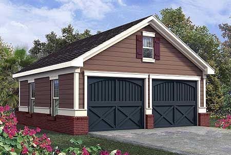 Plan 92048vs Simple Two Car Garage In 2021 Garage Design Garage Plans Architectural Design House Plans