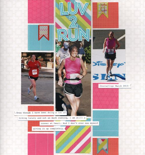 Luv 2 Run Candy Shop Power Palette Scrapbook Layout Using