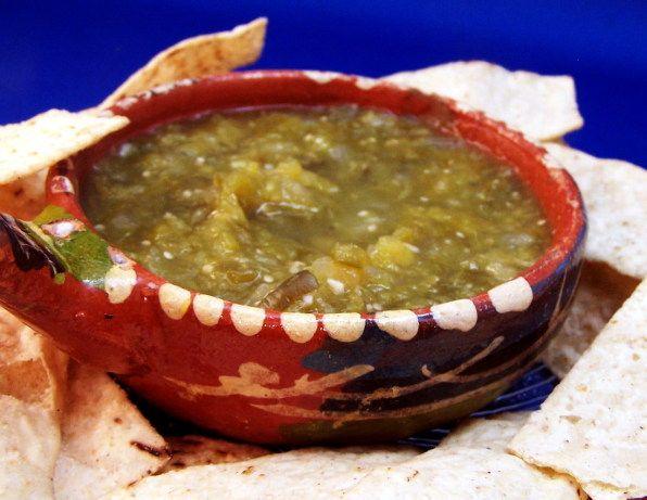 Chuy S Hatch Green Chile Salsa Recipe Recipes Food Green Chile Salsa Recipe