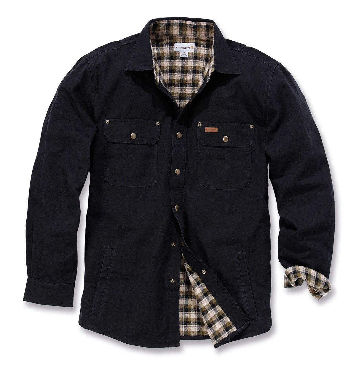 Shirt jacket design - Carhartt Weathered Canvas Shirt Jacket Workwear Jackets Workwear Best Workwear
