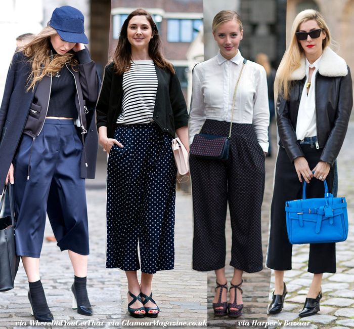 Blue is in Fashion this Year: In Fashion: Culottes