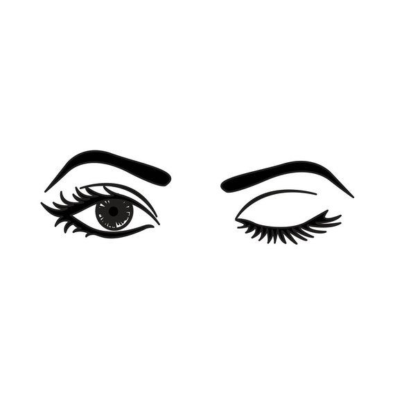 WALL DECAL: The Wink - Makeup Vanity Wall Decal Sticker in ...