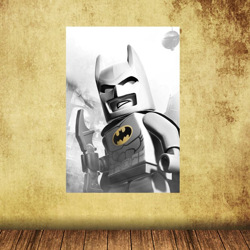 13x19 Batman Reusable Canvas Peel and Stick Poster Wall Decal Wall ...
