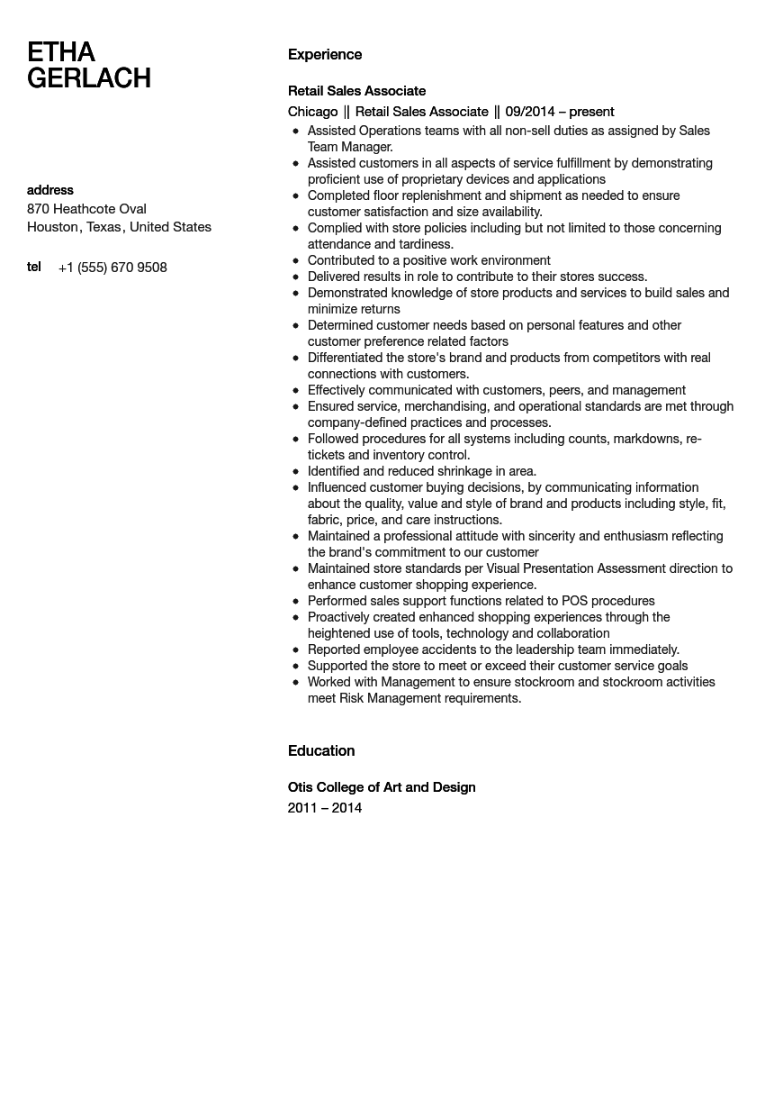 Sales Associate Resume Sample (With images) Resume