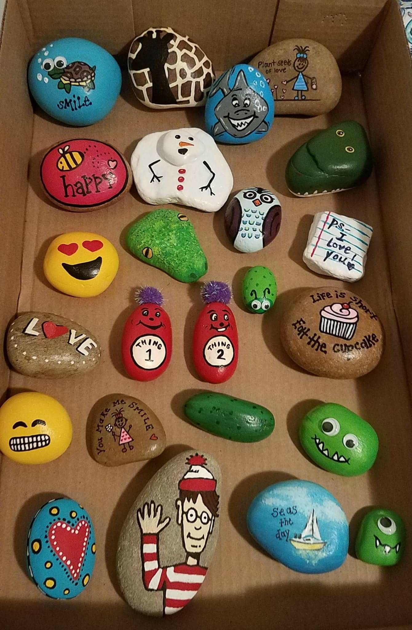 Thing 1 Thing 2 Diy Easy Rock Paint Ideas Art Kids Rock Painting Designs Painted Rocks Rock Painting Ideas Easy