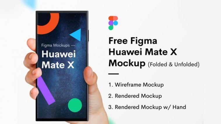 Free Huawei Mate X Free Figma Mockup Free Figma Template Figma Huawei Mate Free Mockup