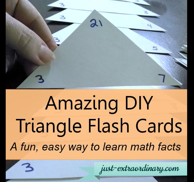 Amazing Diy Triangle Flash Cards A Fun Easy Way To