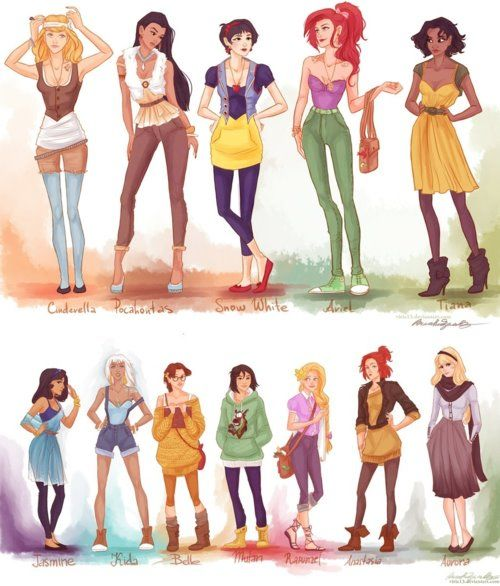 princesses in modern fashion