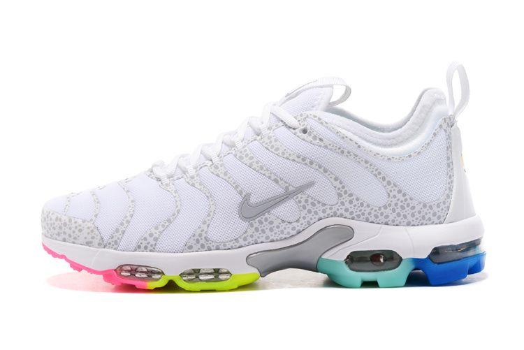 El otro día papa Integración  Nike Air Max TN Plus Ultra White Rainbow Sole Women Men Shoes | Nike air max  tn, Nike air max, Nike air