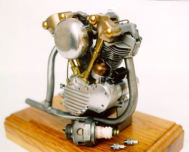 Photo Gallery: Jerry Kieffer's Amazing One Harley-Davidson Motorcycle Model: 1/6th Scale Engine