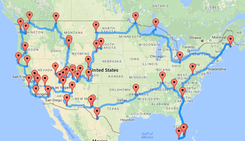 This Map Shows You the Best Road Trip Route Between National Parks #photography http://lifehacker.com/this-map-shows-you-the-best-road-trip-route-between-nat-1784973247