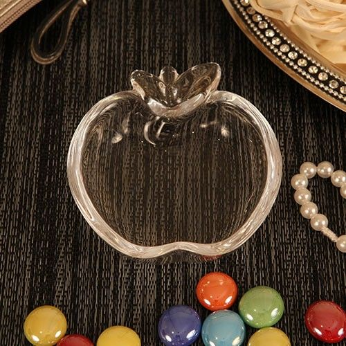 """Charm your way into your guests hearts with some """"Charming Apple"""" trinkets!    http://rubyblanc.com/charming-apple-apple-shaped-trinket  #wedding #glass #dish #apple #beautiful #fall #rustic #charming"""