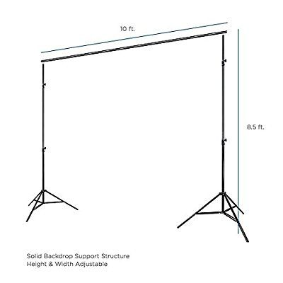 Limostudio Photo Video Studio 10ft Adjustable Muslin Background Backdrop Support System Stand Video Backdrops Photography Studio Equipment Studio Photography