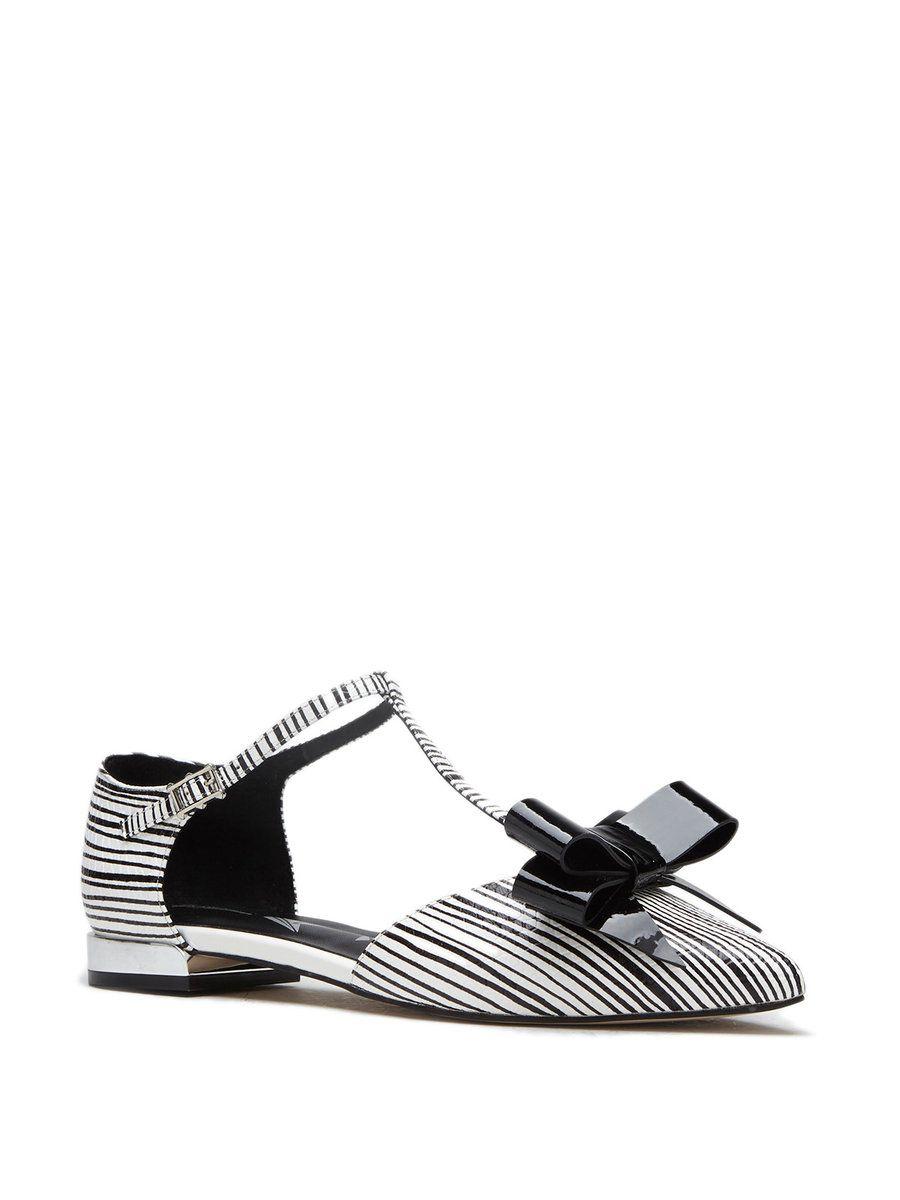 Black leather sandals low heel -  Adorewe Stylewe Designer Sandals Designer Kasmase Black Leather Bowknot Summer Low Heel Sandals