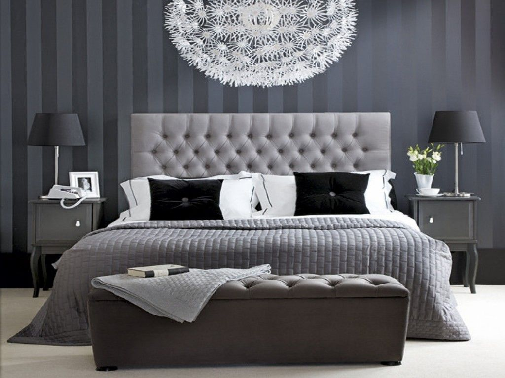 Grey Striped Wallpaper Bedroom Google Search Fresh Bedroom White Bedroom Decor Hotel Style Bedroom