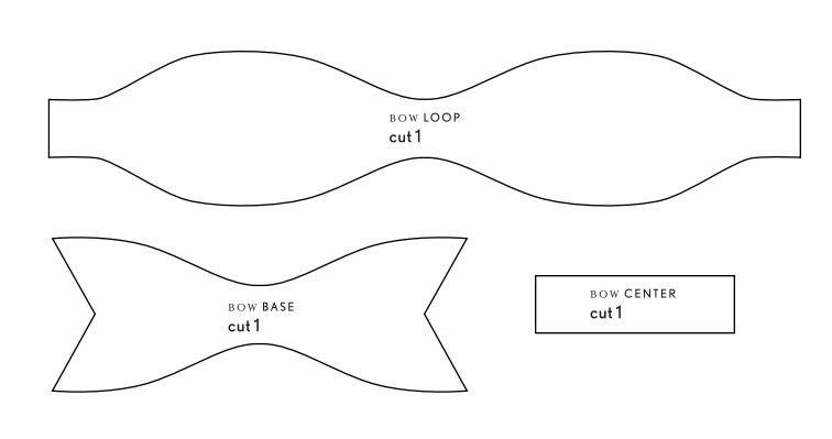 felt bow tie template