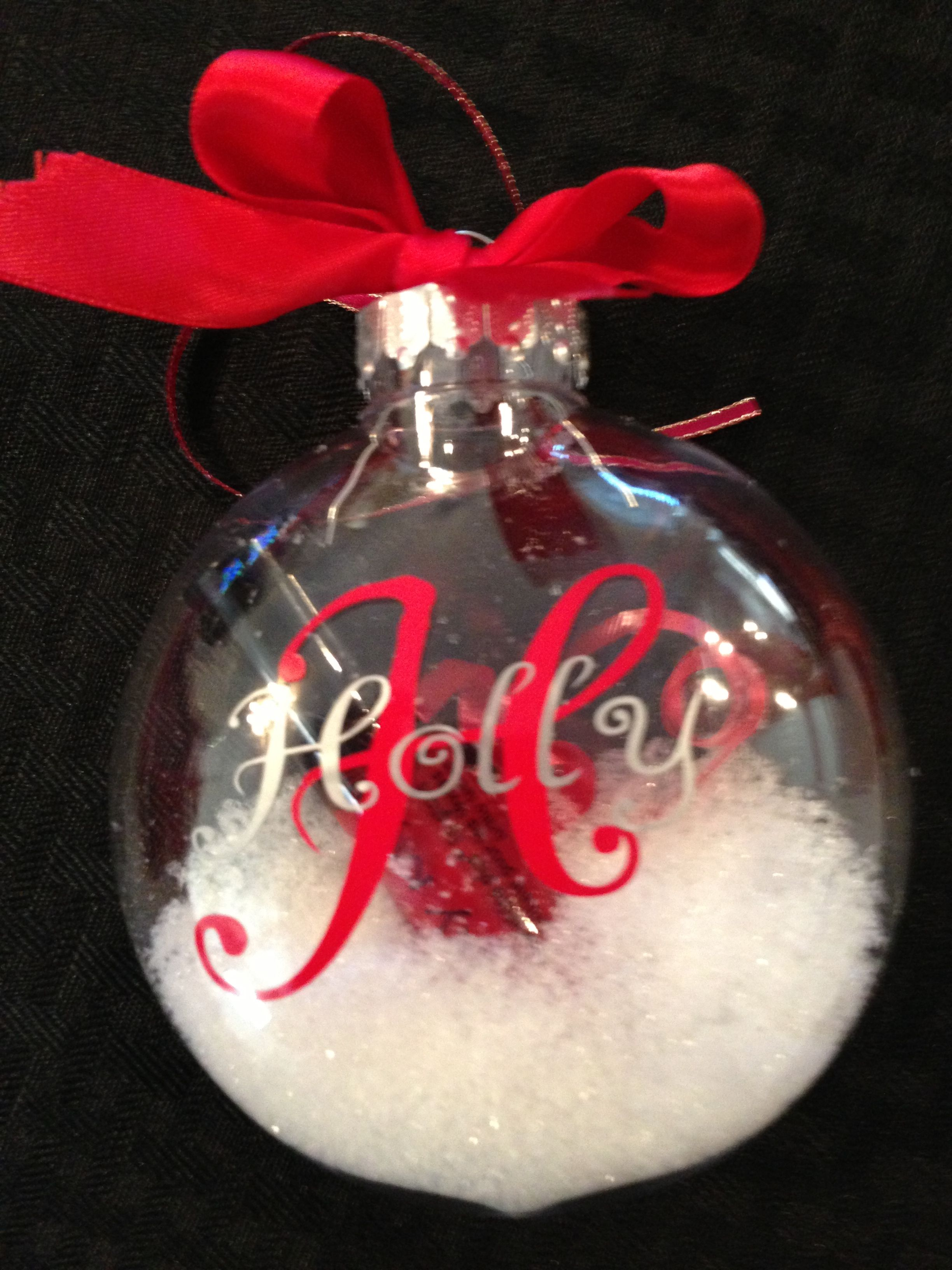 Personalized MK lip gloss ornament. Customize with your