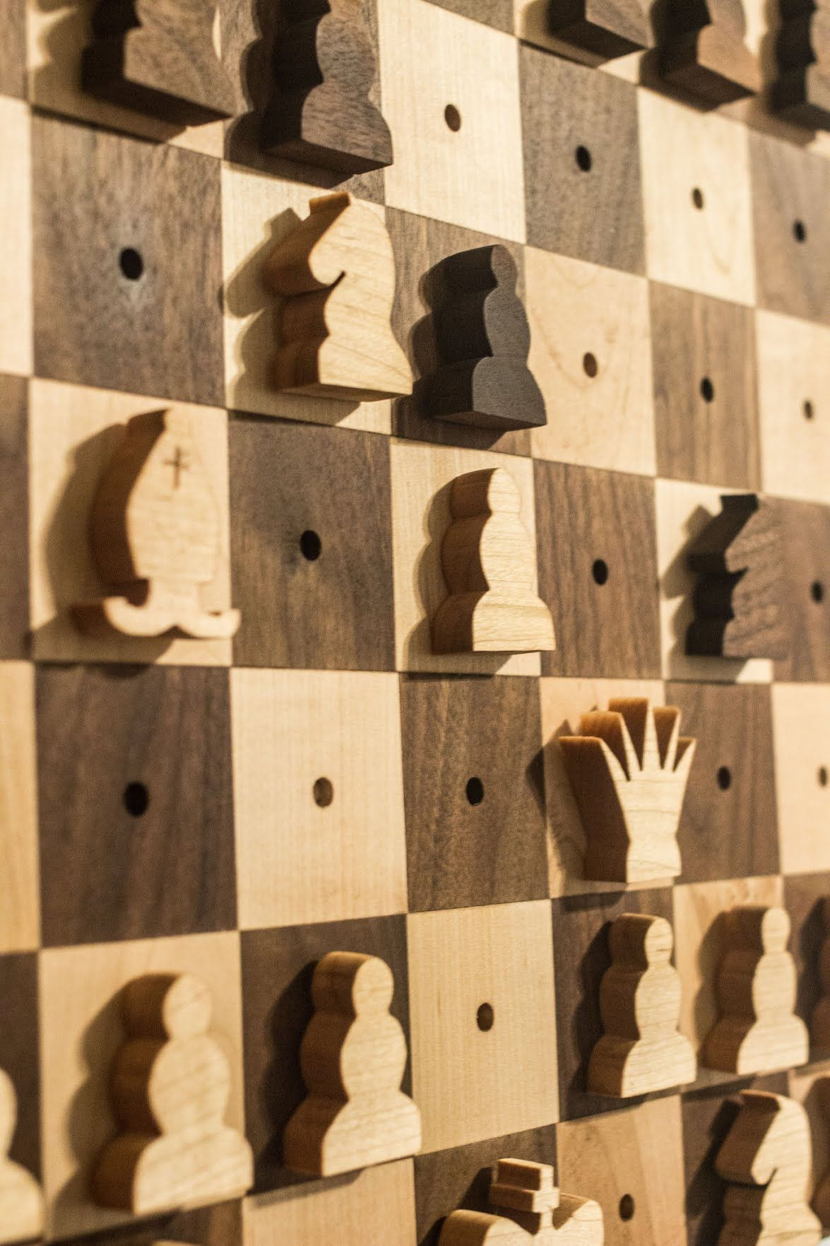 I like the idea of a wall-hanging chess set – it doesn\'t take up ...