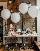 36 Zoll runden weißen Riesenballon - 36 Zoll Riesenballon, Bridal Shower Ballon ... - Party - #Ballon #Braut #Party #Giant Ballon #round