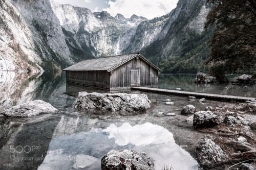 Boat house 1 by alex7290  landscape lake mountains canon hiking Berchtesgaden Königssee Hintersee alex7290