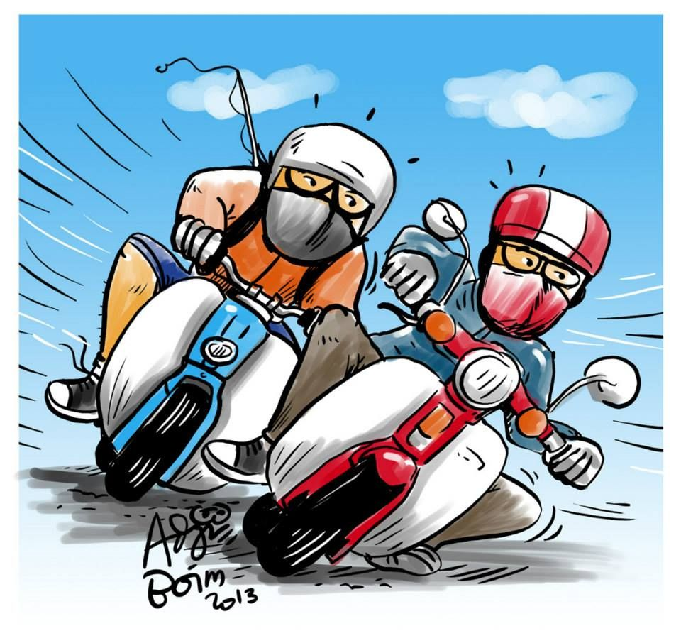 Koleksi Gambar Animasi Naik Sepeda Motor Terbaru Fire Modif