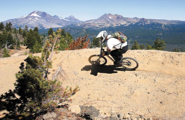 Lava Flow Trail at the new Mt. Bachelor downhill bike park in Bend.