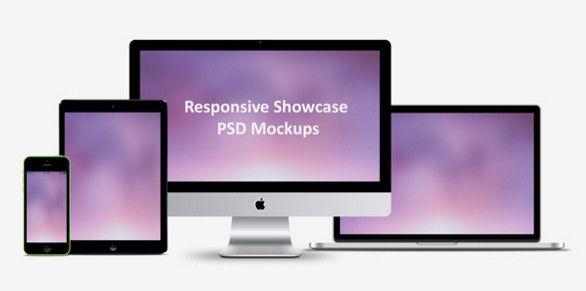 Download Responsive Showcase Psd Mockups Responsive Web Design Mockup Free Psd Mockup Psd PSD Mockup Templates