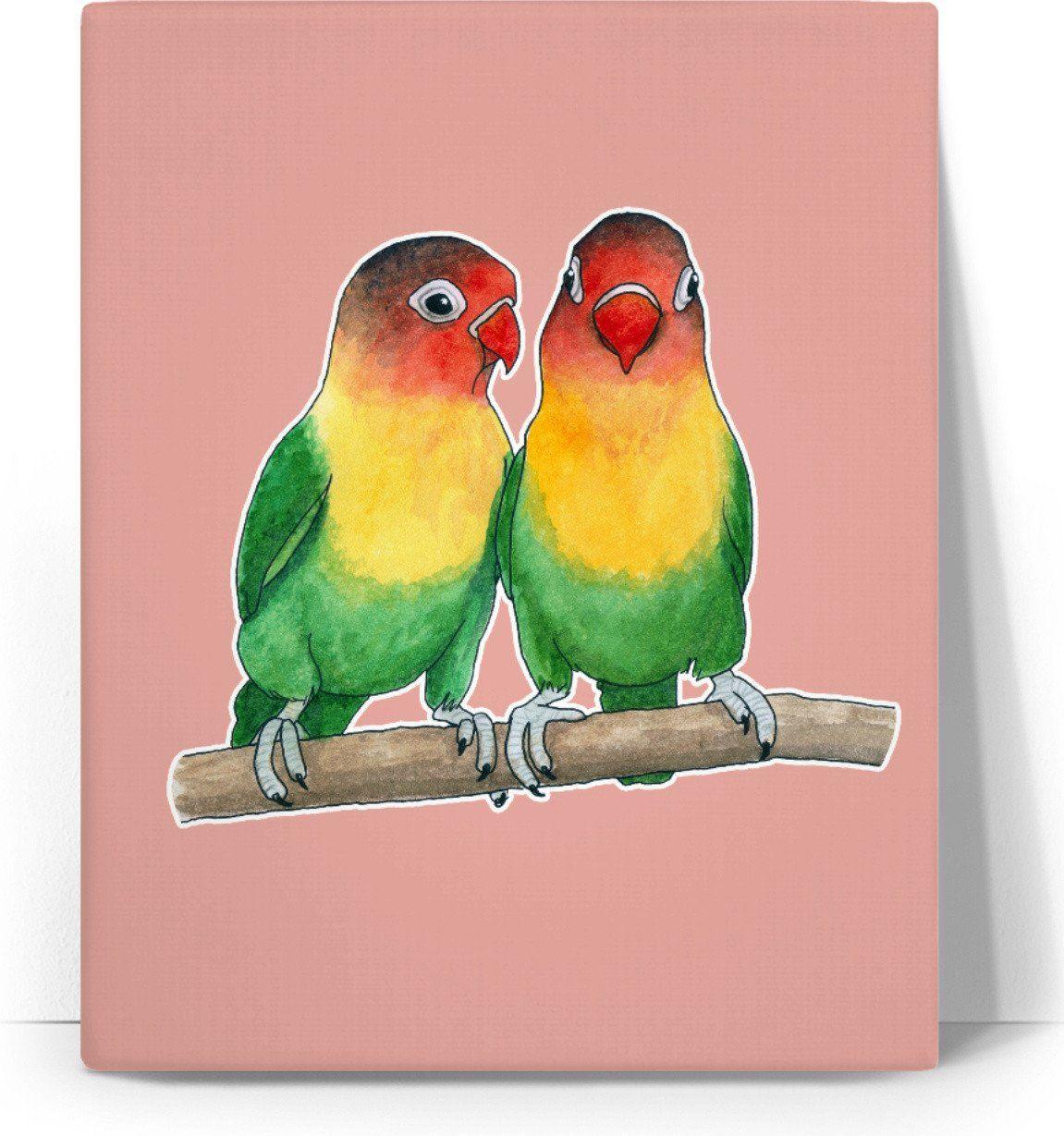Fischer S Lovebirds Canvas Pet Birds Lovebirds Art Bird