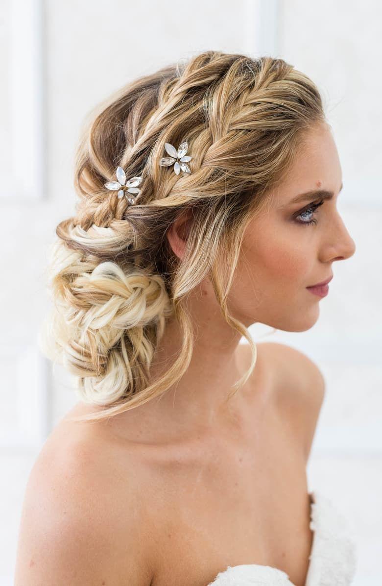 Pin by Nicole Nesbitt on Hair today.... | Simple wedding hairstyles, Wedding hair side, Best ...