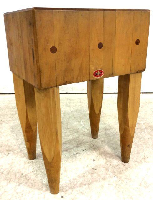 Lot 2406 Vintage Bally Dovetailed Butcher Block Table December 5 2017