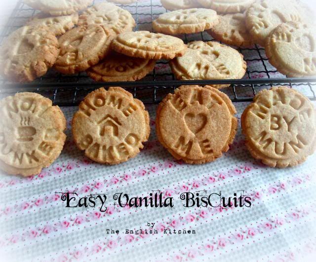 Vanilla biscuits (stamped)