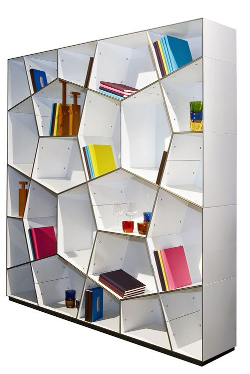 Very cool but not super functional bookshelves