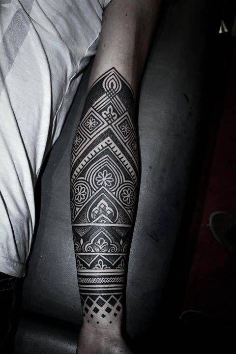 Henna Inspired Half Sleeve Tatuajes Tatuajes Manga Hombre