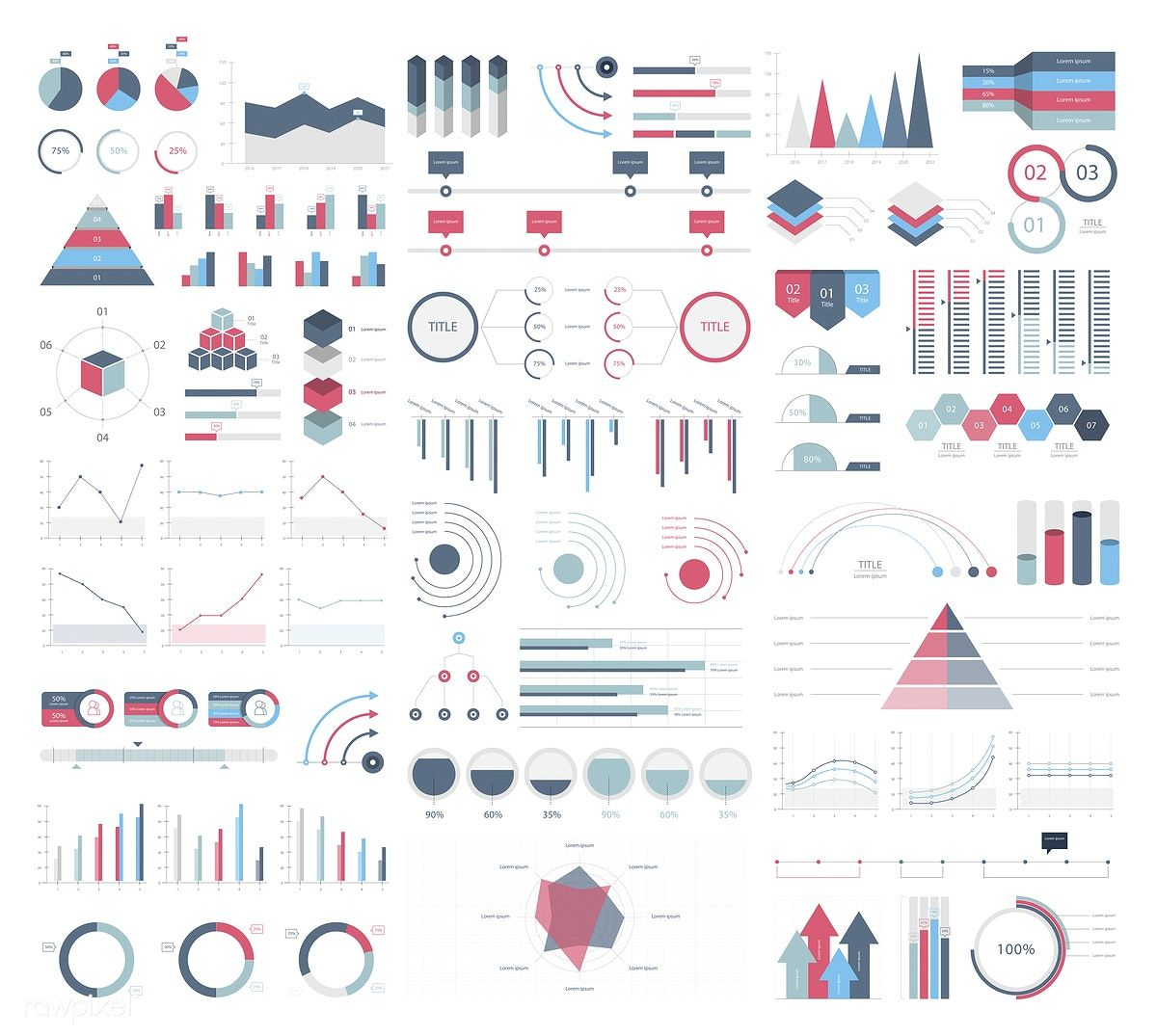 Set elements of infographic free image by